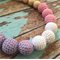 Crochet Bead 'Pink and Lilac' Teething Necklace | Nursing Necklace